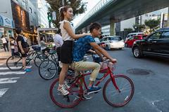 High heels & bike, Dotonbori, Osaka (Japan) (www.monoeil.net) Tags: osaka osakaprefecture japon jp japan highheels hautstalons bike vélo dotonbori streetphotography streetpicture street photoderue pierreyvessulem