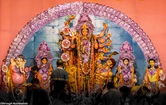 Goddess Durga (bkrishnendu) Tags: durga bengal festivity spirit energy deity goddess celebration faith culture worship idol nikon d7100 nikond7100 dslr amateur india manualfocus primelens devotion power auspicious inspire hinduism belief