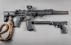 Silent Partners (S.Dobbins) Tags: accurate armory ar15 sbr mvb industries arc stock amargeddon gear bcm magpul aimpoint cdnturion arms larue tactical fortis elzetta aac hk vp9