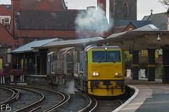 RHTT New Brighton (frisiabonn) Tags: dmu rail merseyside wirral bighton new britain uk dr98901 networkrail station railway cleaning dr98951 mpv rhtt train