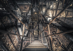 The stairs of success are made of failures (Marco Bontenbal (Pixanpictures.com)) Tags: urbex urban exploring ue urbanexploring old industrial world europe eu germany photography pixanpictures abandoned decay decayed natural light naturallight nikon d750 tamron 1530 stairs rusted beautiful mysterious powerplant forgotten hidden technology lost