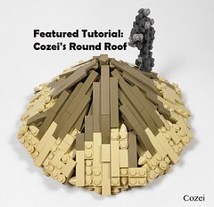 New Featured Tutorial! (soccersnyderi) Tags: lego moc creation model roof design round technique walkthrough tutorial guide thatch circular