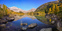 Derborence_Mountain_Reflection (Andy'z Art) Tags: derborence suisse swiss switzerland mountains lake lac montagnes reflection blue sky outdoor tree fire meleze andz art nikon d810 valais 2017