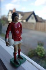 George gazing wistfully out of the window :) (theoldsmithy) Tags: macromondays souvenir footballer figure memory meta diecast