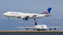 United Airlines (N175UA) (A Sutanto) Tags: united airlines ua boeing b744 b747 queen skies jumbo jet n175ua sfo ksfo san francisco plane spotting airliner landing