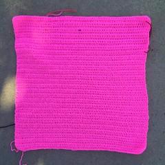 A second pink double crochet square (crochetbug13) Tags: crochetbug crochet crocheted crocheting crochetsquares doublecrochet doublecrochetsquares pink olek loveacrosstheusa raleigh northcarolina