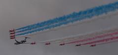 2017_09_0800 (petermit2) Tags: royalairforce raf rafdisplayteam royalairforceaerobaticteam aerobaticteam redarrows baehawkt1 bae hawkt1 hawk bombardiersentinelr1 bombardiersentinel bombardier sentinelr1 sentinel zj691 flypast rafscamptonairshow scamptonairshow rafscampton airshow scampton lincolnshire