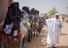 Touaregs on their horses waiting for the Sultan's audience (Hannes Rada) Tags: niger touareg horses agadez