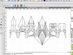 Drawing databases of origami spaceships (Matayado-titi) Tags: sugamata spaceship starship shusugamata starwars startrek starfighter spaceships origami diagram database cad matayado nx01 enterprise