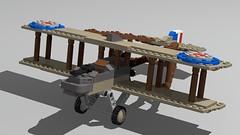 Airco DH.2 (GBDanny96) Tags: lego moc world war 1 ww1 airco dh2 fighter aircraft plane biplane military british rfc raf