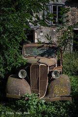 The rural habit of keeping your old car...forever. (Ivan van Nek) Tags: rueduvieuxmartres martrestolosane hautegaronne midipyrénées france frankreich frankrijk 31 nikon d7200 nikond7200 etsmeschia sylvianmeschia legrandpresbytère car voiture abandoned renault