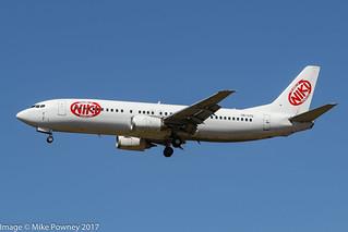 OM-GTD - 1993 build Boeing B737-46J, leased by Go2Sky to niki for the Summer 2017 season