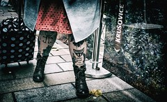 Never trust the Living. (Mister G.C.) Tags: streetshot streetphotography candid photograph bodyart tattoos legs feet boots lady woman female monthlychallenge image people unposed color colour coloured colored farbe urban town city zonefocus zonefocusing snapfocus ricoh ricohgr pointshoot mistergc strassenfotografie scotland glasgow britain greatbritain gb british uk unitedkingdom europe