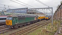 Shared Heritage (Richie B.) Tags: dcr devon and cornwall railways british rail brel ruston paxman class 56 56303 brush traction general motors 57 57304 carlisle citadel railway station cumbria loram grinder