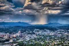 Summer Shower Swan Song - Roanoke Valley (Terry Aldhizer) Tags: summer shower swan song goodbye season seasons autumn september roanoke valley city mill mountain overlook star blue ridge mountains weather rain clouds sky last day terry aldhizer wwwterryaldhizer