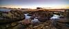sunset scenery (K.H.Reichert) Tags: twighlight rocks ocean meer malta sonnenuntergang felsen spiegelung gozo himmel sky coast sunset sea sanlawrenz mt