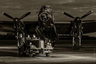 Lancaster bomber - Just Jane - Atmospheric period costume shot.