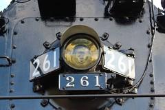 Right on the Nose (Leo Blackwelder) Tags: milwaukeeroad trains steam locomotive steamlocomotive 261 themilwaukeeroad railroad rail photography industrial machinery minnesota