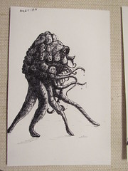 War of the Worlds. The Martians on Mars out of their Fighting Machines (ianulimac) Tags: waroftheworlds hgwells wells martians mars drawing sketch doodle scribble pen sketchbook ideas black white ink creatures monsters invasion earth space