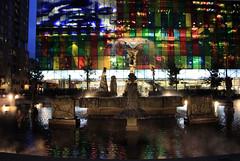 Place Jean-Paul-Riopelle (JB by the Sea) Tags: montreal montréal quebec québec canada september2017 urban publicart quartierinternational placejeanpaulriopelle lajoute thejoust modernart statue sculpture fountain palaisdescongrèsdemontréal