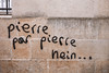 "#Manif10octobre #Nantes #GameOfTags: ""Pierre par pierre hein.."" (ValK.) Tags: gameoftags loitravailxxl pjlterrorisme loitravail cabanedupeuple etatdurgencepermanant maisondupeuple nantes politique valk demonstration fonctionpublique graff graffiti greve intersyndicale manifestationunitaire social tag france fr"