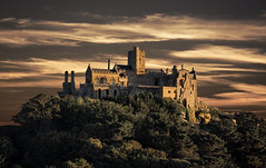 St Michael's Mount (Grant Morris) Tags: stmichaelsmount cornwall sunset castle grantmorris grantmorrisphotography canon redsky redclouds