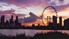 Sky Story (elenaleong) Tags: skyline singaporeflyer cloudscape coloursofsky elenaleong