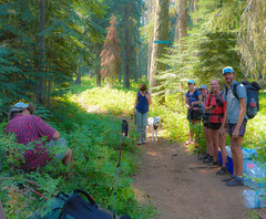 Pacific Crest Trail Thru Hikers (ex_magician) Tags: thruhiker klamathfalls oregon moik photo photos picture pictures image lightroom adobe adobelightroom lakeofthewoods winemanationalforest brownmountain lavaflow pacificcresttrail pct brownmountainshelter brownmountaintrail