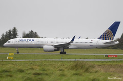 United Airlines 757-200 N14115 (birrlad) Tags: shannon snn international airport ireland aircraft aviation airplane airplanes airline airliner airlines airways taxi taxiway takeoff departing departure runway united ua24 newark boeing b757 b752 757 757200 757224 n14115