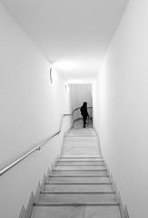 (cherco) Tags: lonely escaleras stairs down blancoynegro composition canon composicion ciudad city chica solitario solitary silhouette loner alone blackandwhite woman mujer geometry girl walker arquitectura architecture