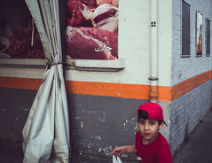 Street Corner (syLvaiN BRiLhauLt) Tags: street photography paris candid boy color rue clichy couleur