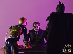 Good cop, bad coop. (Cool Ranger by Gui Marques) Tags: geek nerd photography toyphotography toys thedarkknight heathledger christianbale coringa joker batman coolranger