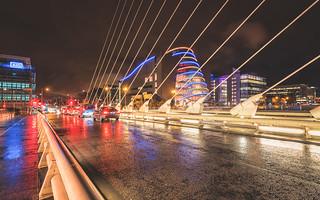Dublin lights and rain