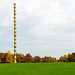 Endless Column made by Romanian artist Constantin Brancusi in a autumn day