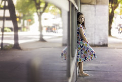 City Girl (nsioss) Tags: one person childhood city charlotte outside uptown dress caucasian cute 7yearsold
