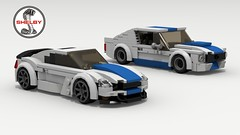 Shelby GT350R (Tom.Netherton1) Tags: 1960s ford mustang muscle pony car cars auto classic vintage 1965 american america lego ldd legos digital designer city povray pov v8 motor engine white background vehicle speed speedster power download dropbox lxf sky road 2018 2000s 2010s 2door fast sport sports coupe shelby gt350