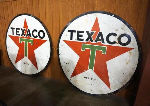 5' Round Texaco Sign ($896.00)