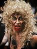 Blonde Curles Zombie (henriksundholm.com) Tags: zombie zombiewalk portrait portraiture people woman lady girl female blood bloody gore horror terror parade makeup drips dops scab wounded lenses blonde curls dead death face stockholm sverige sweden