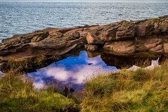 A Rock Pool Mirror - Explored (Half A Century Of Photography) Tags: scotland scenery water cumbrae isleofcumbrae greatcumbrae ayrshire northayrshire pentax explored