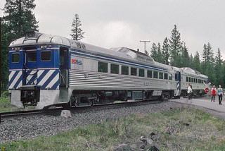 BC Rail RDC BC-10 north of Lillooet, BC on May 21, 1992.