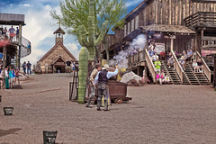 Wild West Town 4 (Largeguy1) Tags: approved wild west town landscape blue sky clouds canon 5d mark ii