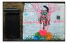 STREET ART by LORA ZOMBIE (StockCarPete) Tags: cat streetart londonstreetart wallart london uk wool urbanart freeart londonart brickwork lorazombie