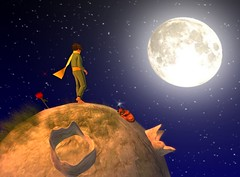 The Little Prince | Beautiful things (mikebastlir) Tags: little prince kids child children boy young childhood space moon secondlife virtual world antoine de saintexupery rose flower life friendship love loneliness lonely alone understanding fairytale story poetic book beautiful touched heart feelings affection