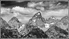 Grand Teton 2  B&W (cmneuf) Tags: trees mountain rock bw blackandwhite wyoming clouds grandtetons snow