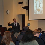 Dr. Kang-Na shares his knowledge with students.