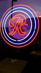 Rainier R (Pye42) Tags: admiraljunction heartlandcafe r rainierbeer seattle washington westseattle neon neonsign restaurant sign window unitedstates