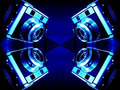 Quatro (rolandmks7) Tags: sonynex5n camera kodak signet40 signet blue mirror quad quatro