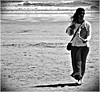 Asian Lady (1980blue Street) Tags: candid street beach swansea swanseabay mono monochrome blackandwhite black white lady woman girl female cute sexy asian indian pakistani bengali shades