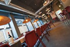 _DSC2086 (fdpdesign) Tags: pizzamaria pizzeria genova viacecchi foce italia italy design nikon d800 d200 furniture shopdesign industrial lampade arredo arredamento legno ferro abete tavoli sedie locali