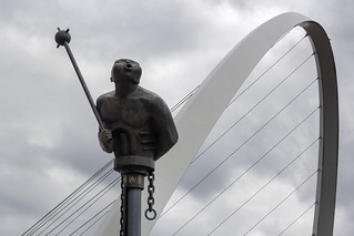 'River God' (André Wallace, 1996), Quayside, Newcastle upon Tyne, UK